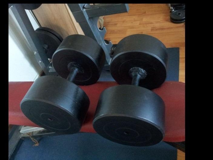 verkocht zware vaste dumbbells, 70 kg per stuk bodybuilding nl forumVaste Dumbbells #21