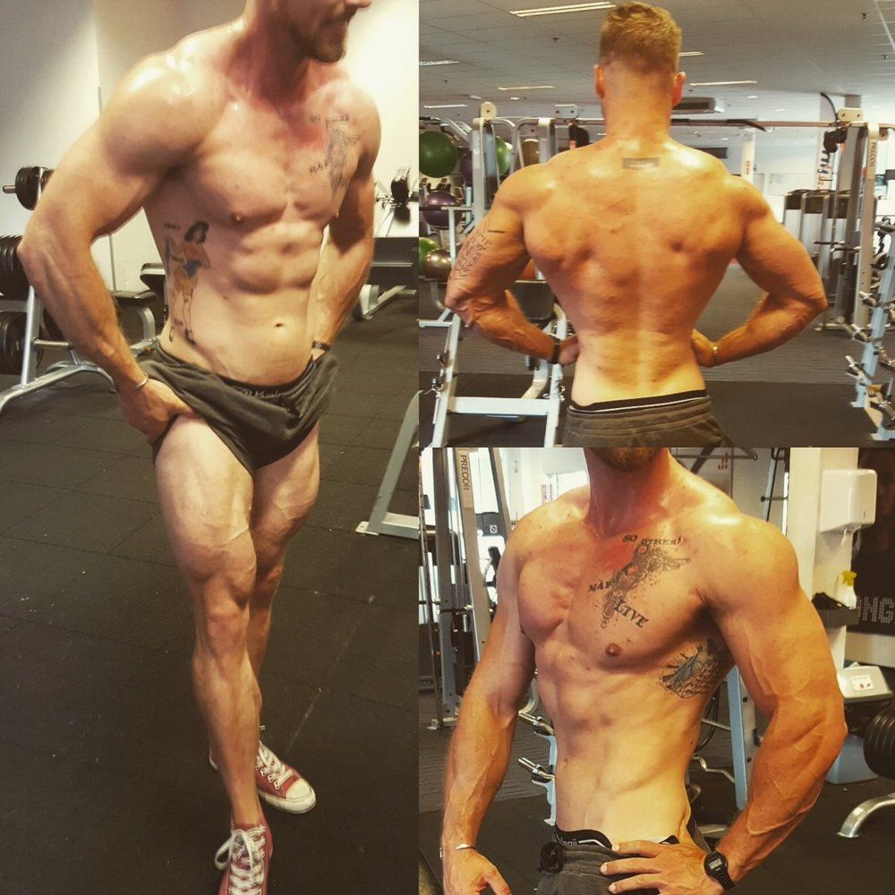 Bodybuilders met grote lullen